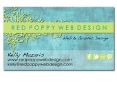 Premade Business Card Design, Digital Business Cards, Aqua Blue and Green, Floral Grunge, Print at Home or Online Business Card Template