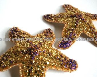 Pasties, Starfish, Handmade to Order, Halloween, Burlesque, Mermaid, Cabaret, Glitter, Beaded, Sequins, Showgirl, Hippy, Festival