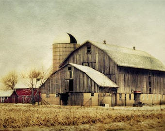 Rustic Barn Print, Old Country Barn Photograph, Rustic Farmhouse Decor, Old Barn Photograph, Rustic Country Home Decor, Old Gray Barn 8x12