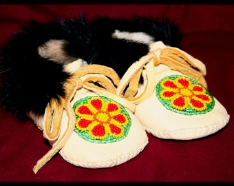 Baby Leather Moccasin Pattern (Plains Style) PDF format