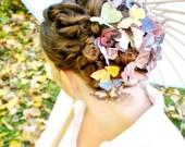 the butterfly house . TWENTY handmade silk butterfly hair clips