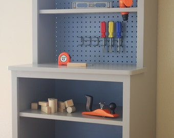 Kids Workbench / Play Kitchen Woodworking Plans