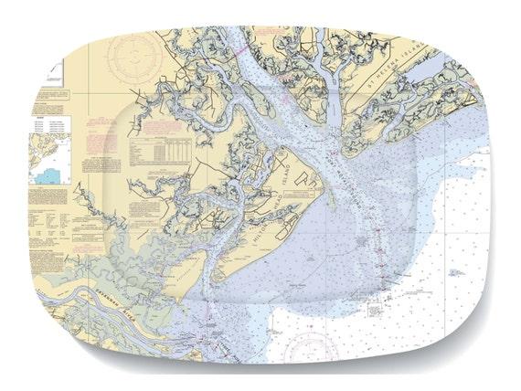Items similar to Hilton Head Island Nautical Chart ...