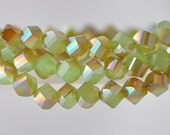 Twisted Crystal Glass Beads 10mm Green Copper 70pcs /NZ1005