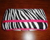 Zebra Print Travel Wipe Case