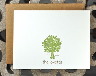 Tree Swing, Tree, Wedding Thank You Cards, Bridal Shower Thank You, Wedding Tree Swings, Thank You Cards, Outdoor Wedding