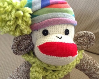 Rockford Red Heel Sock Monkey.  Made by hand in the USA.