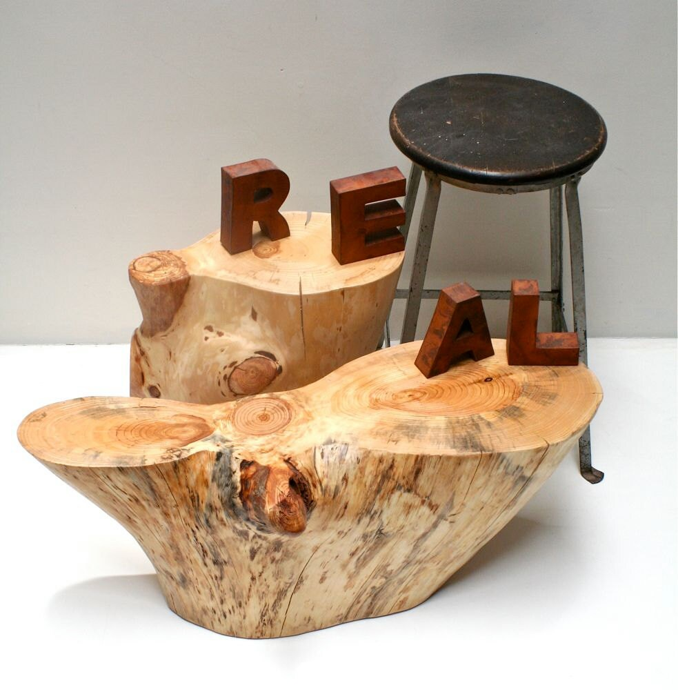 White Tree Stump Coffee Table: RESERVED PAIR Of Tree Root Stump Tables For JENNA