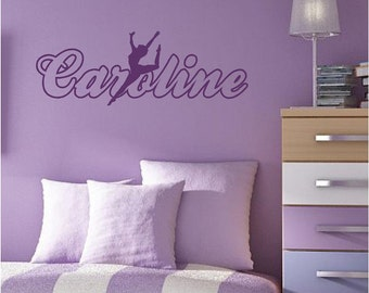 Fairy Wall Decal Custom Personalized Name Vinyl Wall Art - Custom vinyl wall decals dance