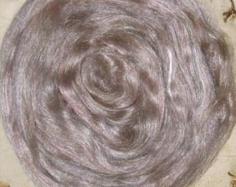 Smoky Plum Merino Tussah Silk Blend Lux Roving