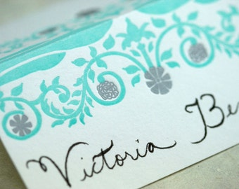SALE - Letterpress Place Cards 8pk - Fancy
