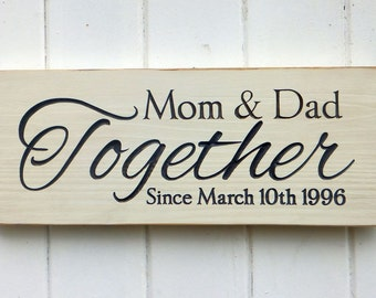 Customized Anniversary Sign