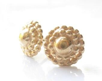 Post Gold Earrings,Gold Studs Earrings Dots Post Gold Earrings
