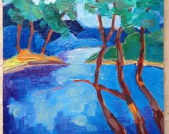 Spring Pond 2, Oil Painting by Terri Haugen