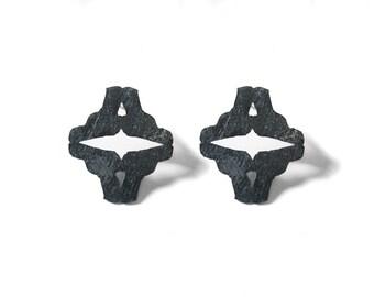 LOADED no.4 earrings - oxidized silver