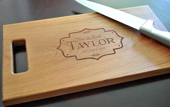 Cutting Board Personalized Cutting Board Laser Engraved 11x15 Monogram Cutting Board CB1115TAY