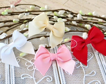20 pcs Adorable Grosgrain Butterfly Small Bows, Fabric Bows Tie, Hair accessories.