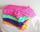 Knit bridesmaids gifts set of 4 shawls Bridesmaid gift Rainbow Wedding Hand Knit Shawls Winter, Spring, Fall Wedding