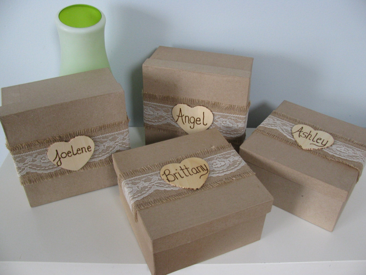 Wedding Personalized Bridesmaid Gifts sale rustic personalized bridesmaid gift box set of 2 jewelry