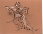 Life Drawing on Orange Canson Paper by Steve Lieber
