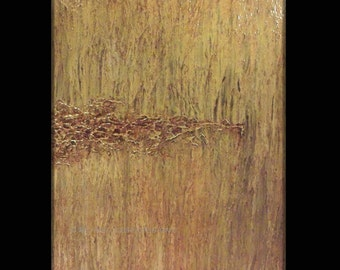Modern Abstract Art original painting by Michael Joseph texture sculpture 30 X 36 inch unstretched canvas signed home decor  beige brown tan
