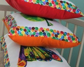 But He Was Still Hungry...3 Piece Pillow Set with Rainbow Color Backings-Made to Order