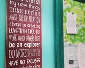 The Creators Rules Teach Others, Have No Excuses, Be An Explorer - Typography Word Art