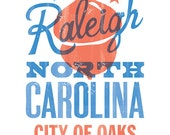 RALEIGH CITY of OAKS Print - 8x10