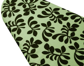 PADDED Ironing Board Cover made with Windham Fabrics Hello Gorgeous aqua with black blossoms select the size