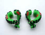 The Zombie Tentacle Fake Gauged Earring- Dead -Undead - Halloween -
