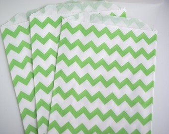 Green Chevron Favor Bags (20)