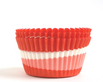 Retro Red Baking Cups (60)