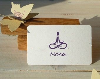 Custom Yoga Me Olive Wood Stamp