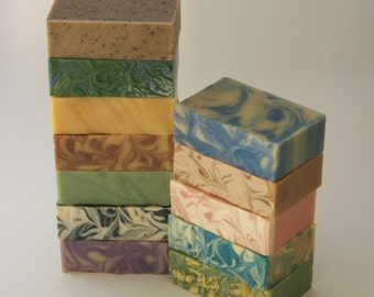 Pick 6 - 4.75 oz. bars - Goat Milk Soap with Olive Oil and Shea Butter by Lomah Acres