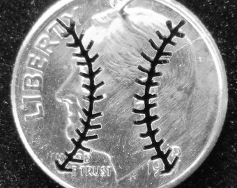 Baseball Dime Hand Cut Jewelry