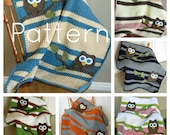 PATTERN Owl Baby Blanket Crochet Pattern Instant Download Bonus Lovey Size Pattern