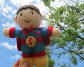 Superman Doll - knitted doll