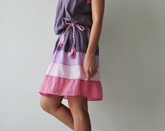 Rain Bow ...Pink Tone Cotton dress