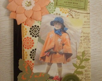Vintage Inspired Girls Altered Composition Book