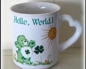 Vintage Care Bears Good Luck Bear Coffee Mug
