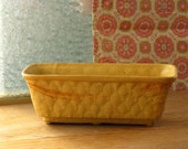 Vintage Brush USA Pottery Yellow Speckled Planter