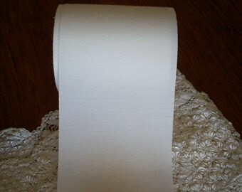 """by the yard  petersham vintage ribbon in beautiful white 6"""" wide"""