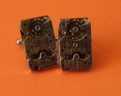 Steampunk Cuff Links Vintage Watch Gears