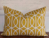 Decorative Pillow Cover: Dwell Studio Designer 12 X 18 Accent Throw Pillow Cover in Canary Yellow