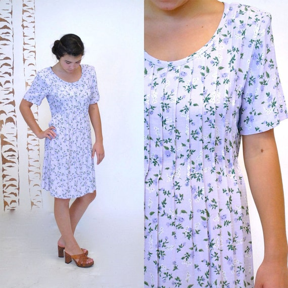 SALE -90s Floral Dress  //  Rayon Dress  //  AMSTERDAM SUMMER