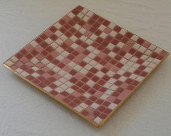 Pink Tiled Mosaic Tray