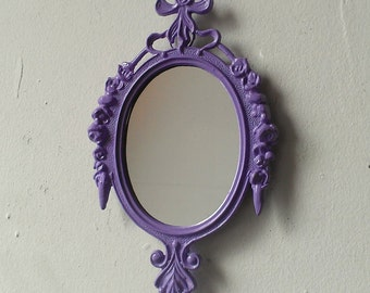 Small Framed Mirror, Oval Picture Frame, Lavender Nursery, Cubicle Wall Decor, Affordable Wall Art, Pastel Goth, Paris Chic
