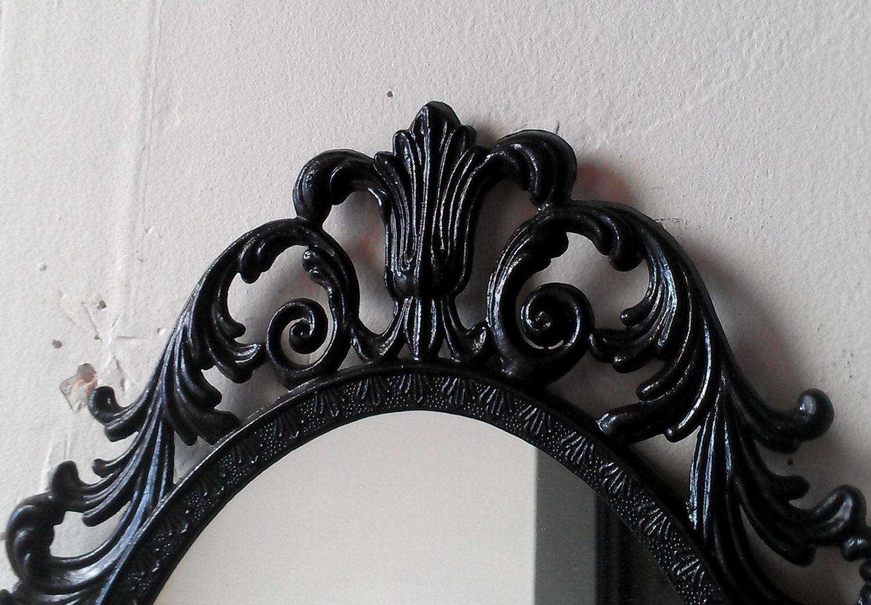 Victorian gothic black mirror small wall decor home for Victorian wall decor