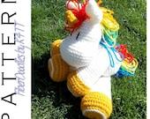 INSTANT DOWNLOAD : KISS Series - Unicorn Crochet Pattern