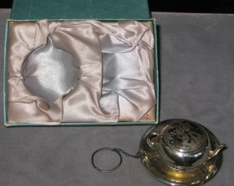 Sale Sale Tea For Two Great Sterling Silver Tea ball Strainer Infuser With Box